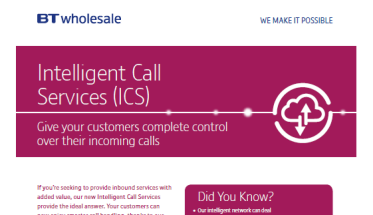 Explore our Intelligent call services - infographic